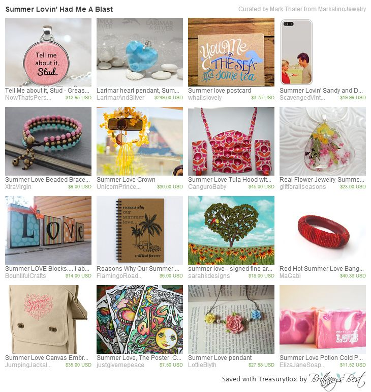 Summer Lovin' Had Me A Blast Treasury on Etsy