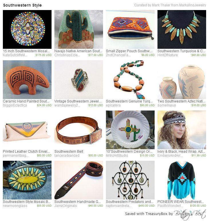 Southwestern Style Treasury on Etsy