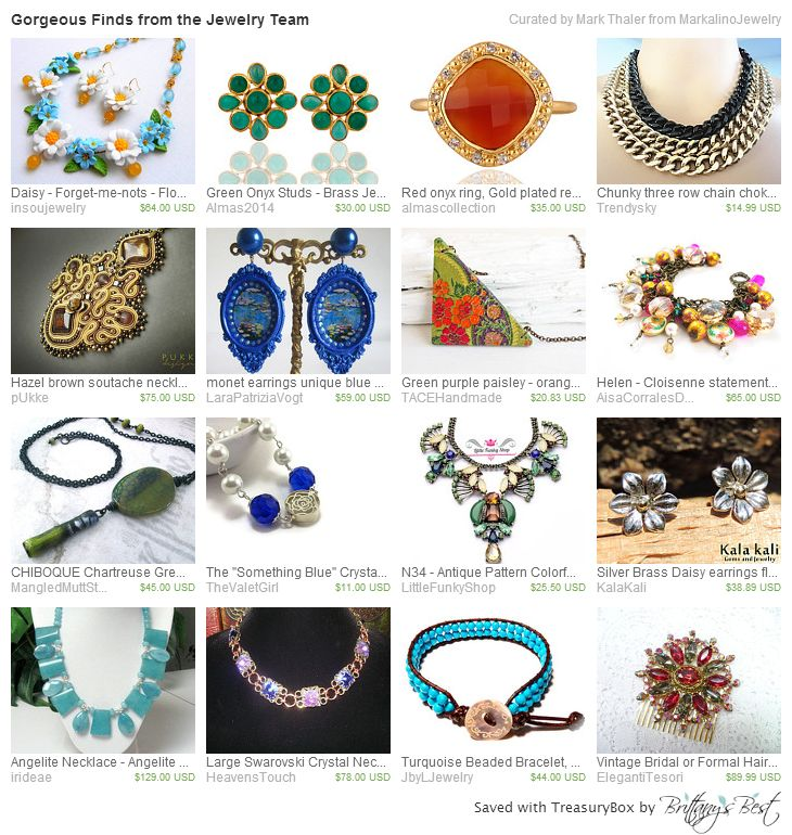 Jewelry Team Treasury on Etsy for June 11