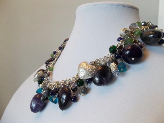 Amethyst Gemstone Statement Necklace