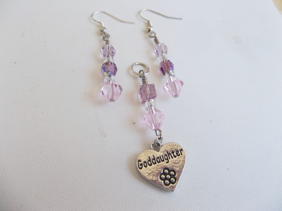Swarovski Goddaughter Pendant with Earrings