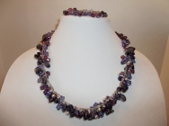 Amethyst and Swarovski Necklace and Bracelet