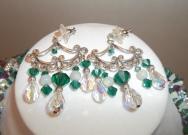 Swarovski Chandelier Earrings in Sterling Silver