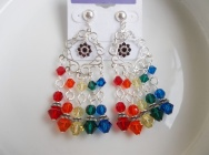 LGBT Pride Chandelier Earrings