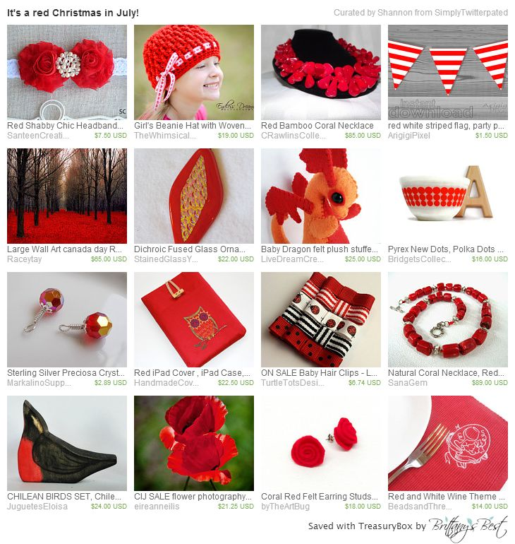 It's A Red Christmas in July Treasury