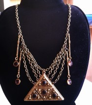 Pyramid Necklace with Vintage Components