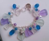 Sea Glass Turtle Charm Bracelet (2014)