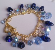 Vintage Glass and Vintage Swarovski Bracelet