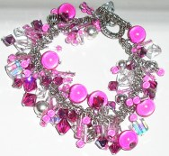 Swarovski Crystal and Glass Beaded Shaker Bracelet