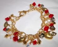 San Francisco 49ers Swarovski Charm Bracelet