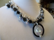 Shaker Statement Necklace with Focal Piece