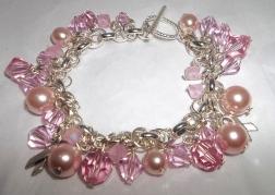 Swarovski Crystal and Pearl Awareness Bracelet