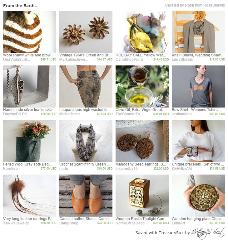 From The Earth Etsy Treasury