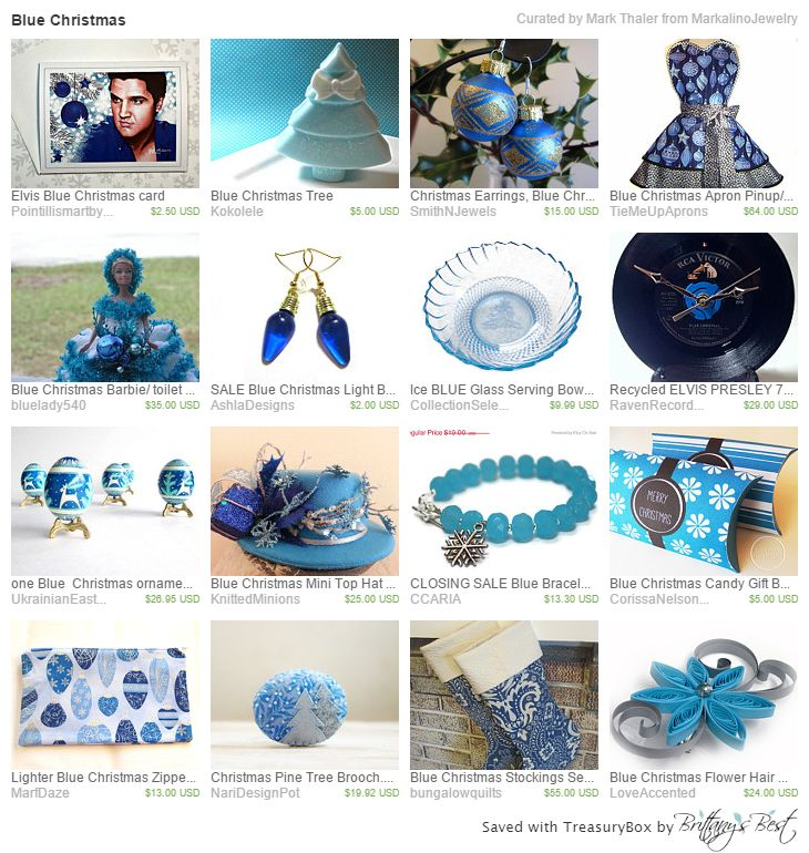 Blue Christmas Etsy Treasury