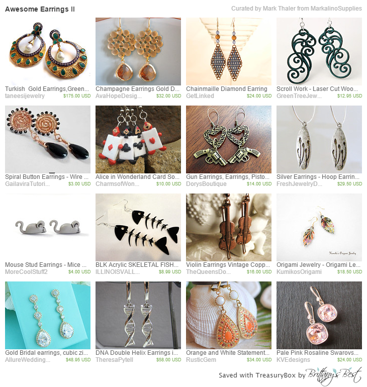 More beautiful earrings found on Etsy.